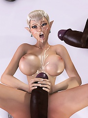 Alluring Bitch with hard bust